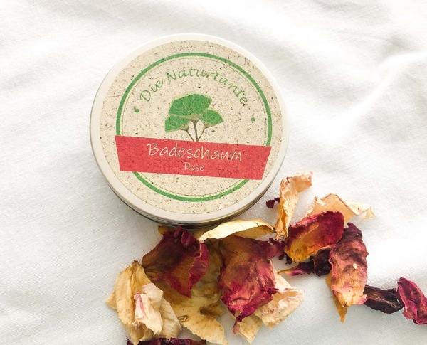 Badeschaum Badezusatz Rose Naturkosmetik Naturtante