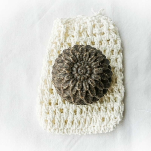 Seifensäckchen rechteckig weiss gross Naturkosmetk Naturtantem
